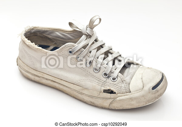 A pair of old sport shoes.   CanStock