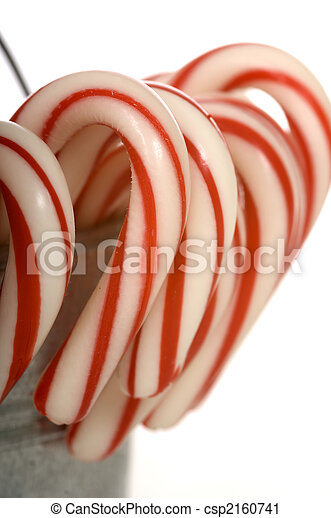 A pale of Candy Canes - csp2160741