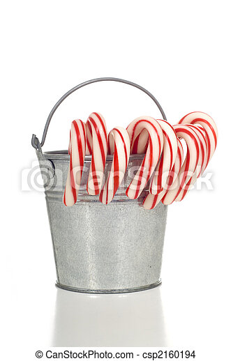 A pale of Candy Canes - csp2160194
