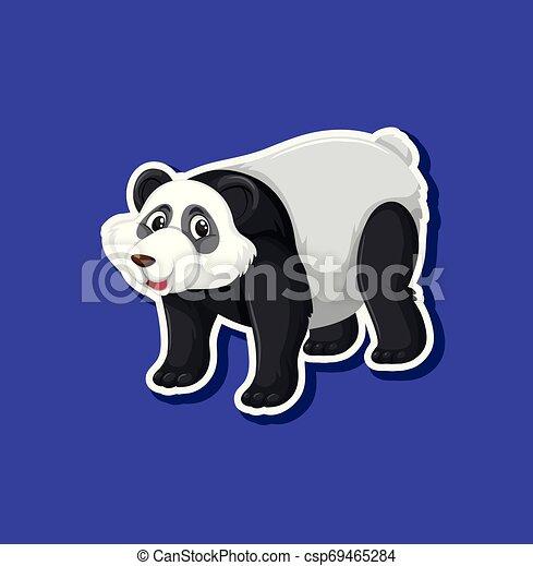 A panda sticker character - csp69465284