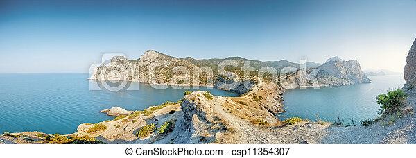 A panoramic view from Cape Kapchik. - csp11354307