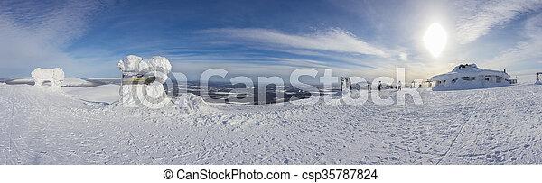 A panoramic view of Ylläs - csp35787824