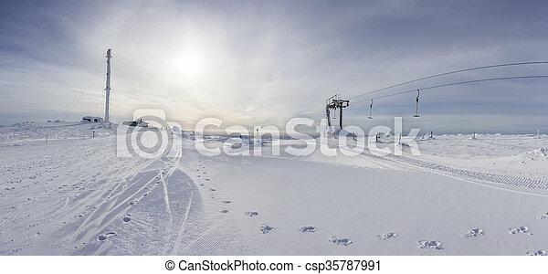 A panoramic view of Ylläs - csp35787991