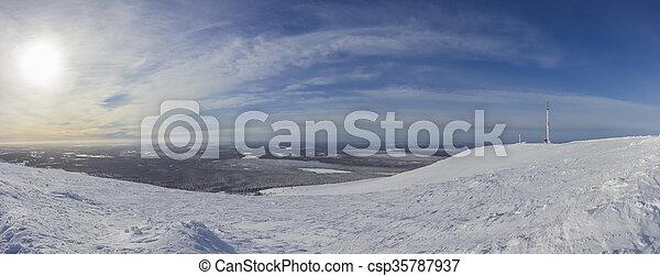 A panoramic view of Ylläs - csp35787937