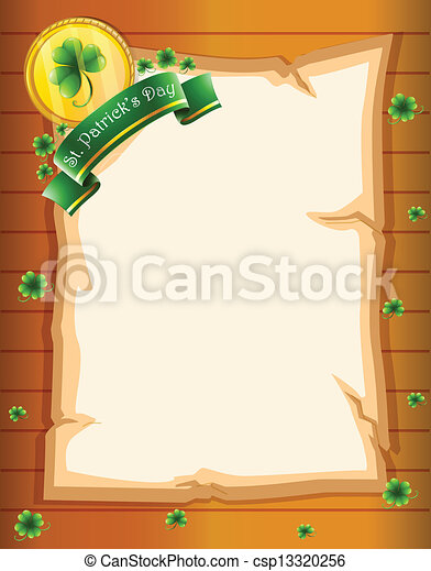A paper with a St. Patrick's Day greeting - csp13320256