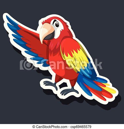 A parrot sticker character - csp69465579