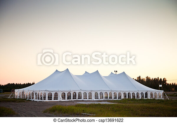 A party or event white tent - csp13691622