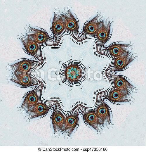 A Peacock feather - csp47356166