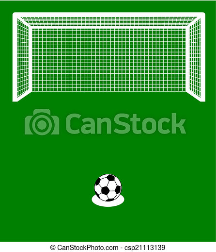 a penalty kick with ball - csp21113139