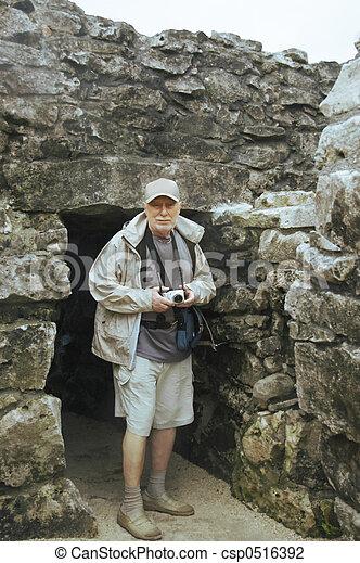 A perfect senior tourist - csp0516392