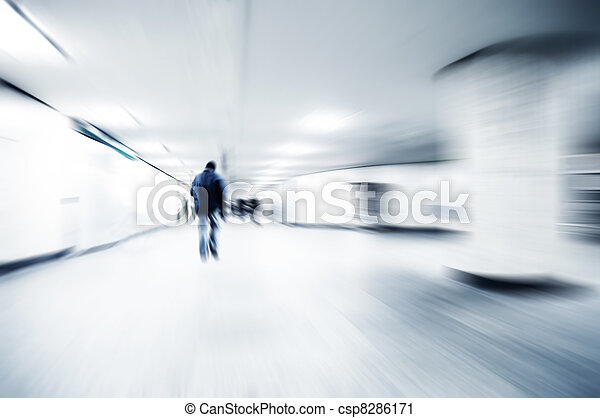A person lost in the rush - csp8286171