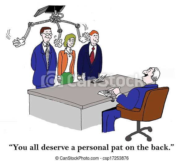 A personal pat on the back from boss - csp17253876