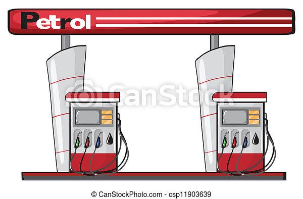 a petrol station - csp11903639