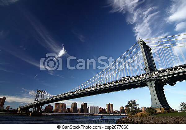 a picture of a new york bridge - csp2677060