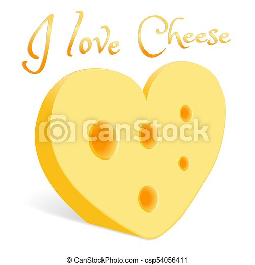 A piece of cheese in the form of a heart - csp54056411