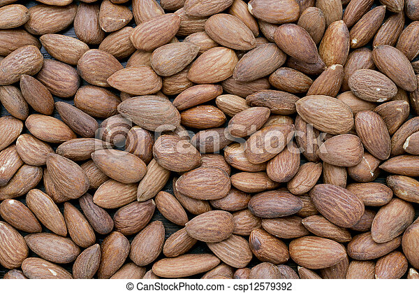 a pile of almonds - csp12579392