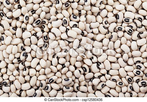 a pile of black eye beans - csp12580436