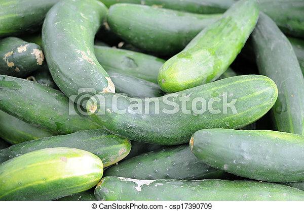 a pile of cucumber - csp17390709