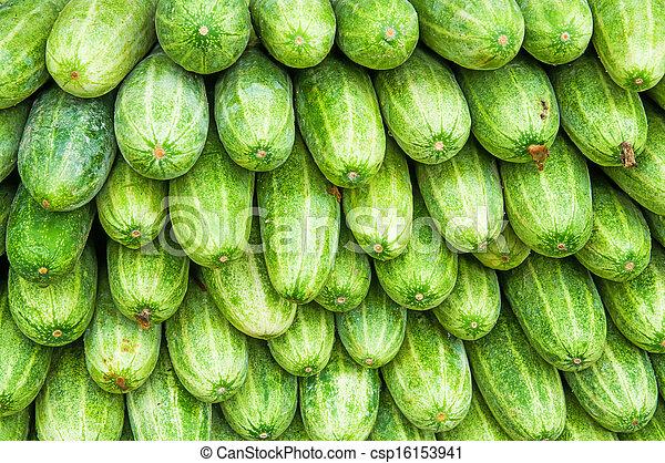 A pile of fresh cucumbers - csp16153941