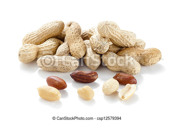 a pile of ground nuts - csp12579394