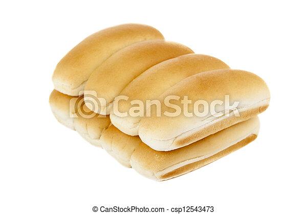a pile of hotdog bun - csp12543473