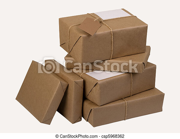 a pile of  mail parcels - csp5968362