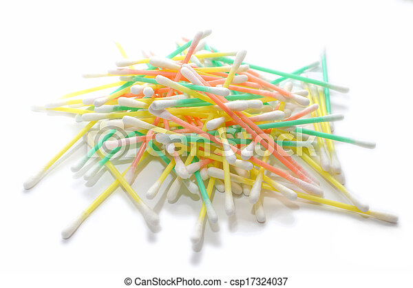 a pile of q tips - csp17324037