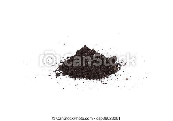 A pile of soil - csp36023281