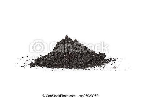 A pile of soil - csp36023283