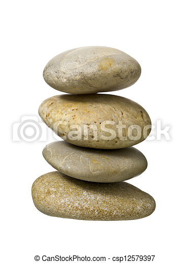 a pile of spa stones - csp12579397