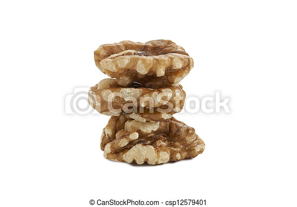 a pile of walnuts - csp12579401