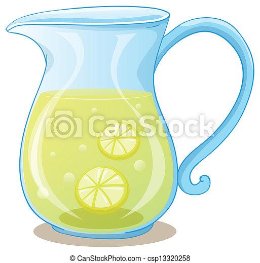 A pitcher of lemon juice - csp13320258