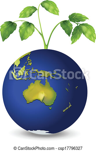 A plant above the planet earth - csp17796327