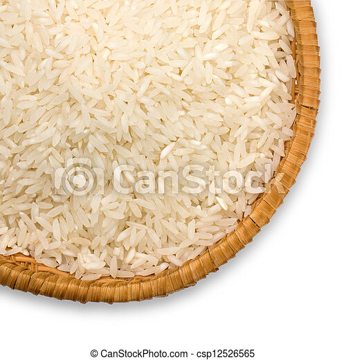 a plate of rice - csp12526565