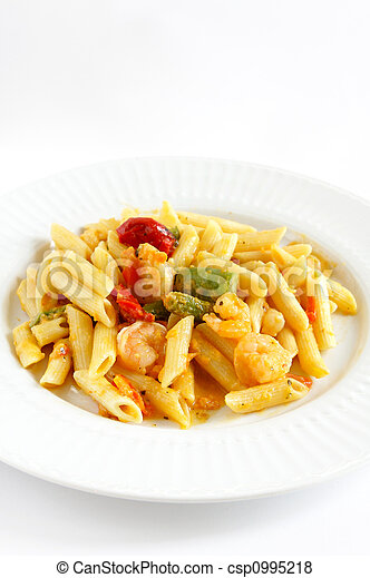 A plate of Shrimp Penne Pasta  - csp0995218