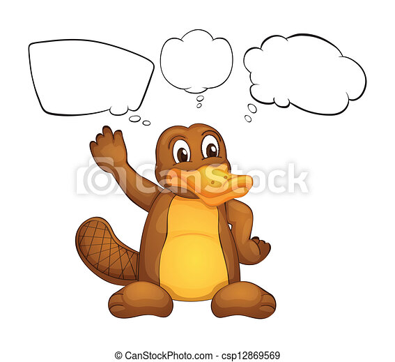 illustration of a platypus on a white background clip art vector rh canstockphoto com duck billed platypus clipart platypus clipart black and white