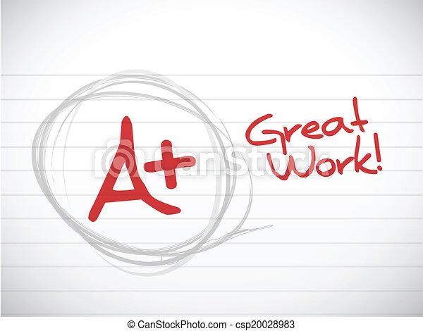 a plus grade. great work. illustration design - csp20028983