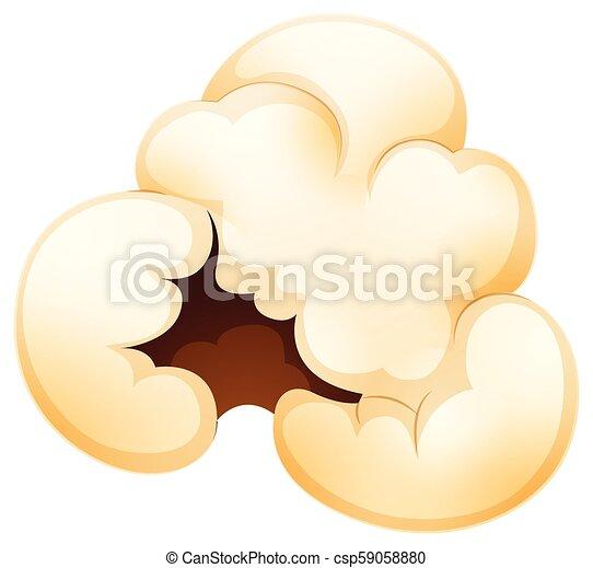 A Popcorn on White Background - csp59058880