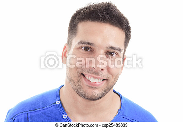 A portrait of a man with white background - csp25483833