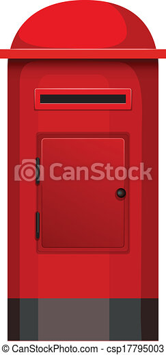A Post Box Illustration Of A Post Box On A White Background