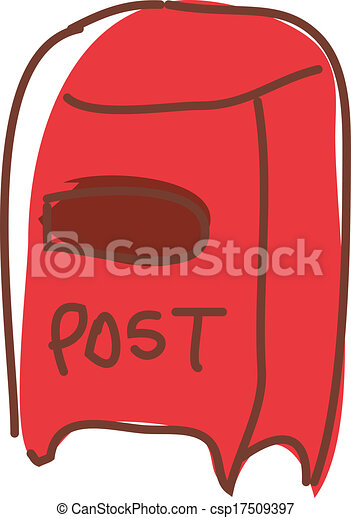 A postbox is placed - csp17509397