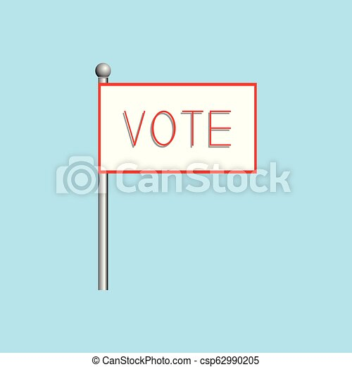 """A poster with the word """"vote"""". Vector illustration. - csp62990205"""