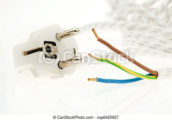 A power cord with plug - csp6420927