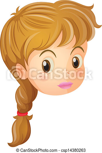 illustration of a pretty face of a girl on a white clip art rh canstockphoto com pretty little girl clipart pretty baby girl clipart