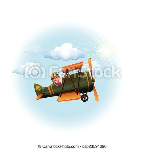 A propeller in the sky - csp23594096
