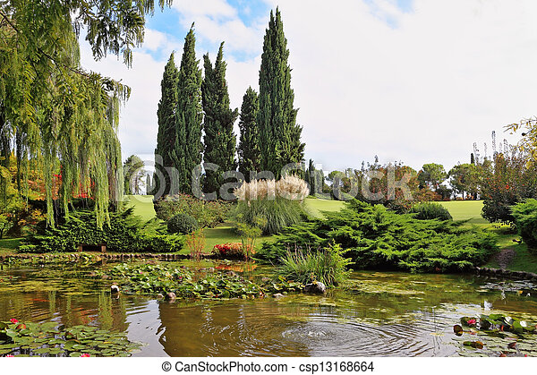 A quiet corner of the park - csp13168664