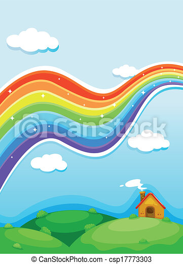A rainbow above the hills - csp17773303