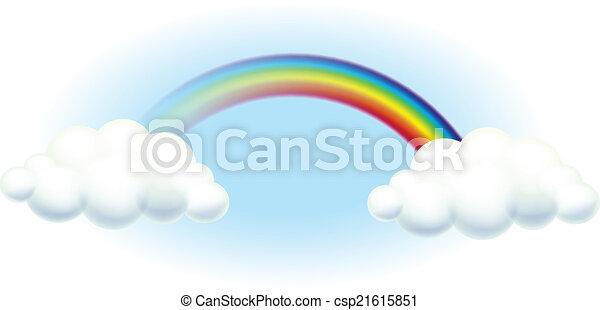 A rainbow in the sky - csp21615851