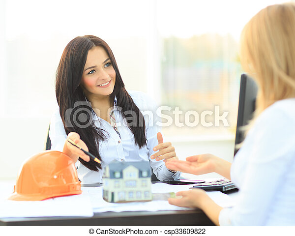 A real estate agent  - csp33609822