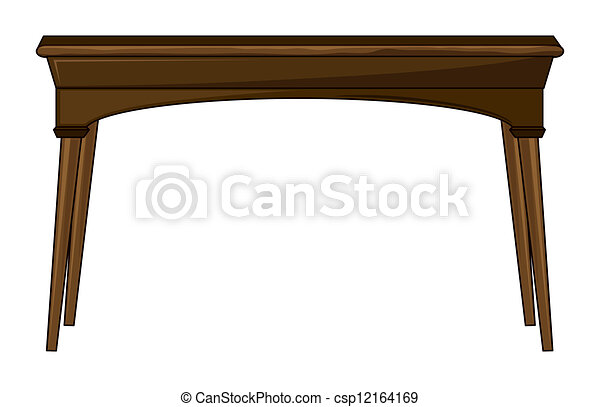 rectangle table clipart. a rectangle table - csp12164169 clipart b